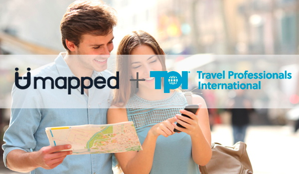 Travel Professionals International and Umapped logos