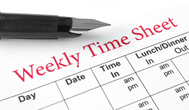 Schedule - Weekly time sheet