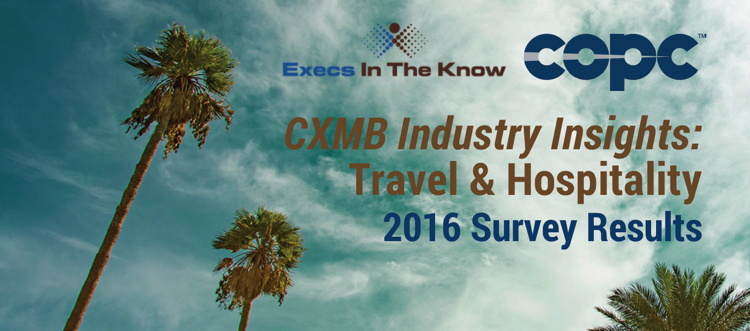 Cover from CXMB Industry Insights: Travel & Hospitality report