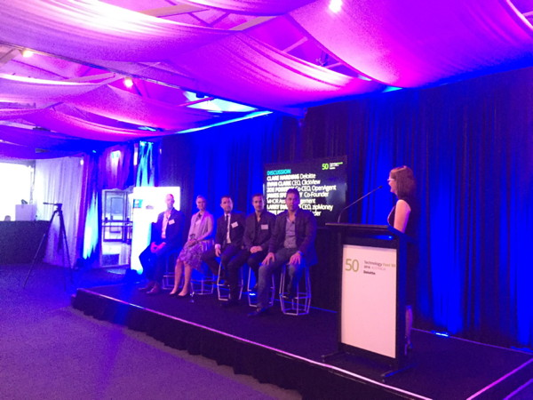 Image from Deloitte Technology Fast 50 Australia awards presentation
