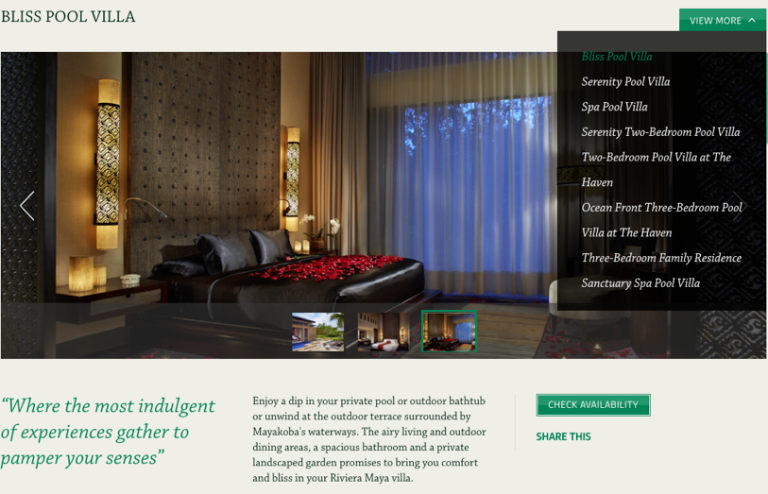 Screenshot - Banyan Tree Mayakoba website