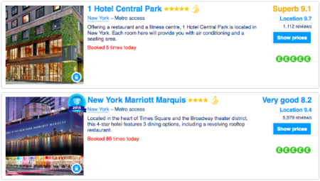Screenshot - hotel search