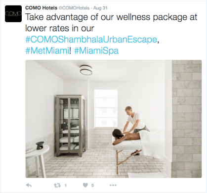 Screenshot - COMO Hotels tweet