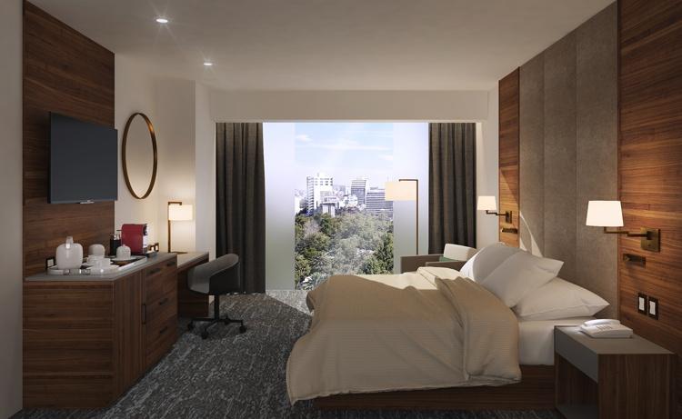 Hotel room at the DoubleTree by Hilton Hotel Mexico City Santa Fe