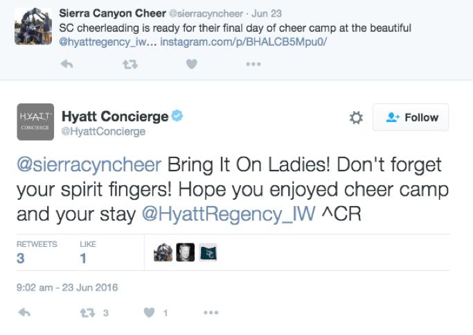 Hyatt Tweet