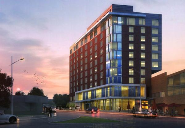 Rendering of the Marriott Ithaca Hotel