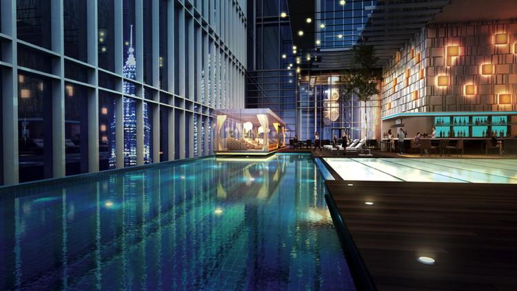 Rendering of the Four Seasons Hotel Kuala Lumpur
