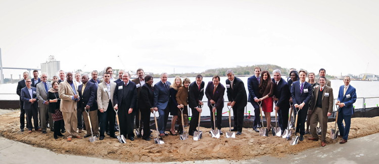 Image from Savannah Plant Riverside District groundbreaking ceremony