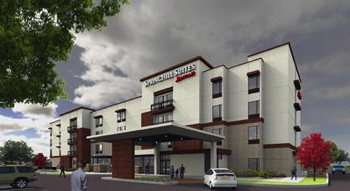 Rendering of the SpringHill Suites by Marriott Albuquerque