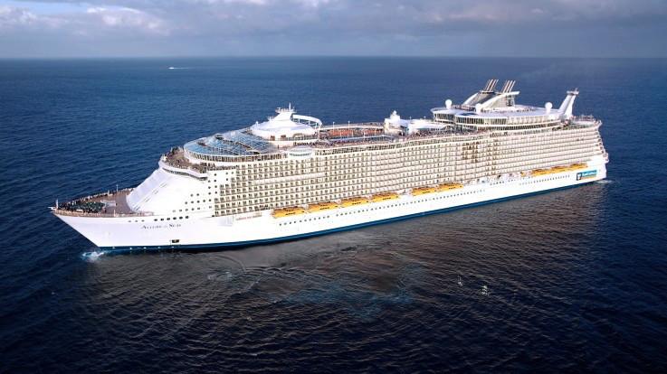 A Royal Caribbean cruise ship
