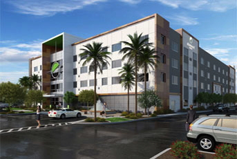 Rendering of the Element Chandler Fashion Center Hotel