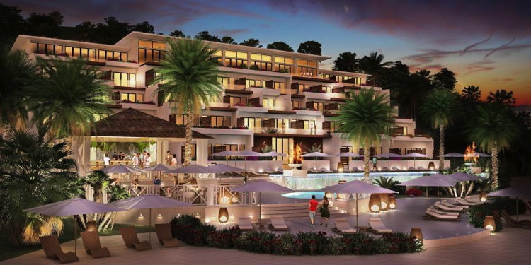 Rendering of the Kimpton Kawana Bay Grenada Resort