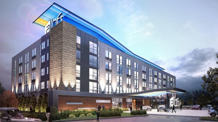 Rendering of the Aloft Louisville East Hotel