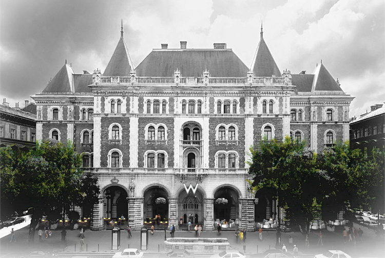 Rendering of the W Budapest Hotel