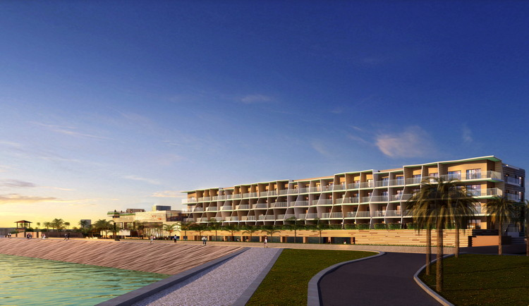 Rendering of the DoubleTree Resort by Hilton Okinawa Chatan
