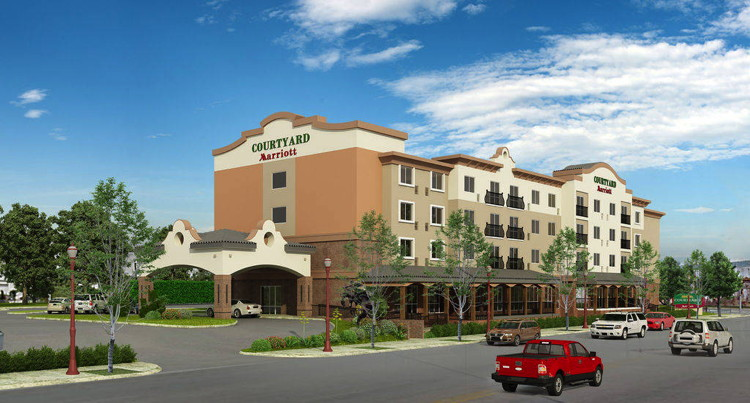 Rendering of the Courtyard by Marriott Fort Worth Historic Stockyards Hotel