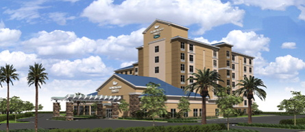Rendering of the Homewood Suites by Hilton Orlando Theme Parks Hotel