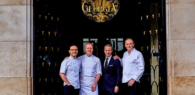 Chefs and executives of the Four Seasons Hotel George V