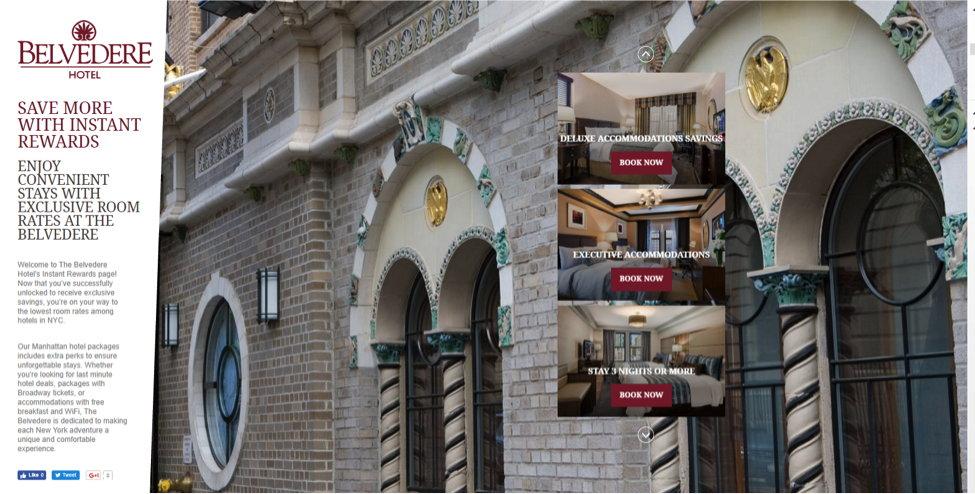 Screenshot - Belvedere Hotel web site