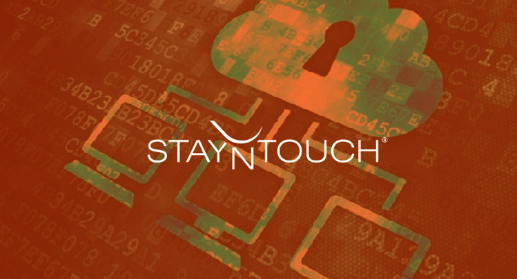 StayNTouch log above illustration representing data security