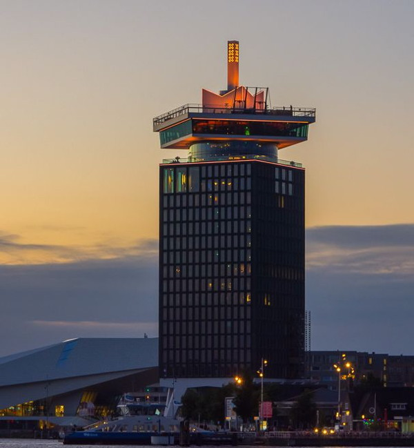 Sir Adam Hotel in the A'DAM Tower Amsterdam