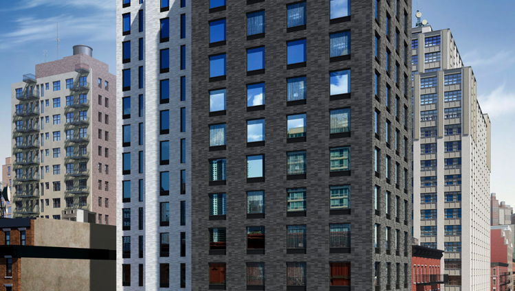 Rendering of the Four Points Manhattan Midtown West Hotel Exterior