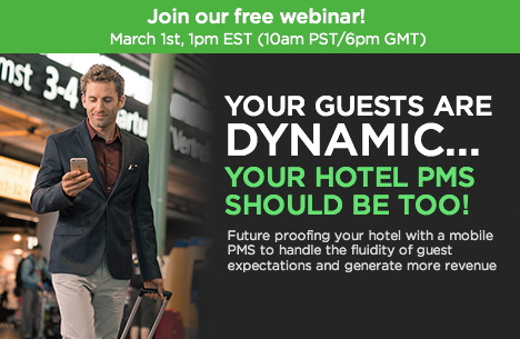 Promotional image for Hotel Technology Webinar