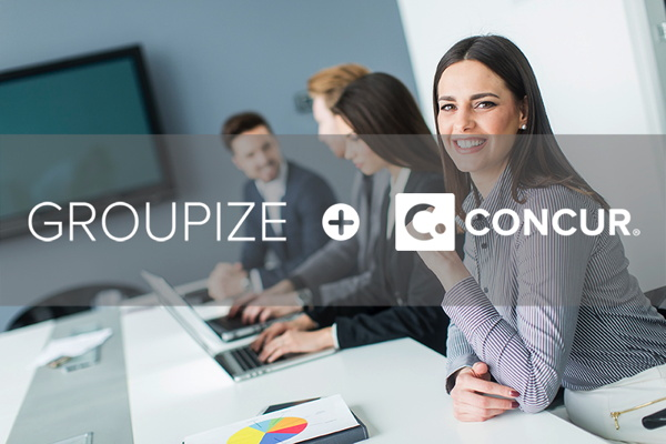 Groupize and Concur logos
