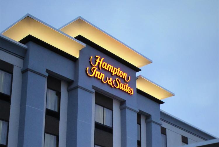 A Hampton by Hilton hotel exterior