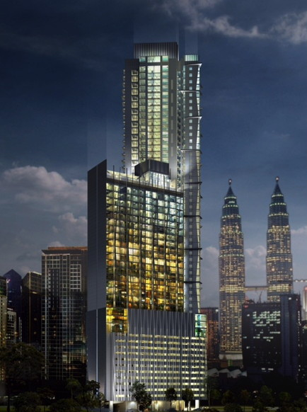 Rendering of the Crowne Plaza Kuala Lumpur City Centre Hotel