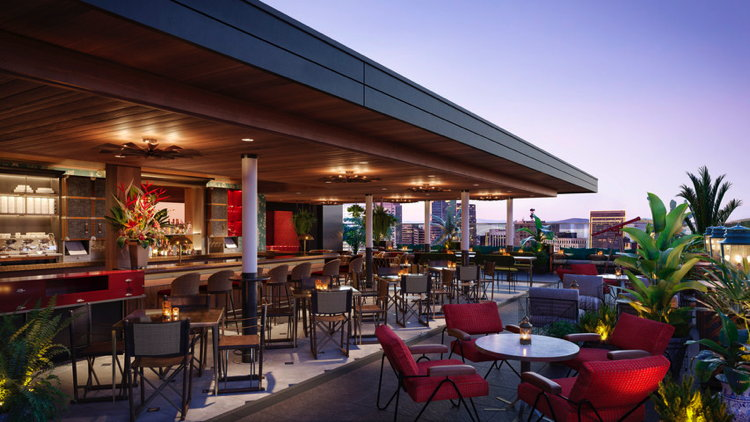 Rendering of the Rooftop at Virgin Hotels San Francisco