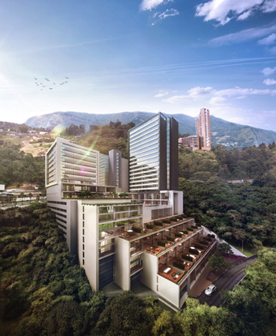 Rendering of the Hilton Medellin Hotel