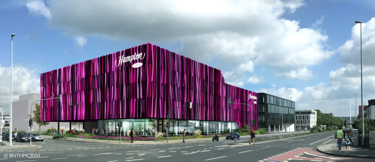 Rendering of a Hampton By Hilton in Germany