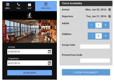 Screenshot - Semiahmoo Golf Resort & Spa web site