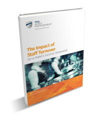 Report cover - 'The impact of staff turnover on a hotel's Income Statement'