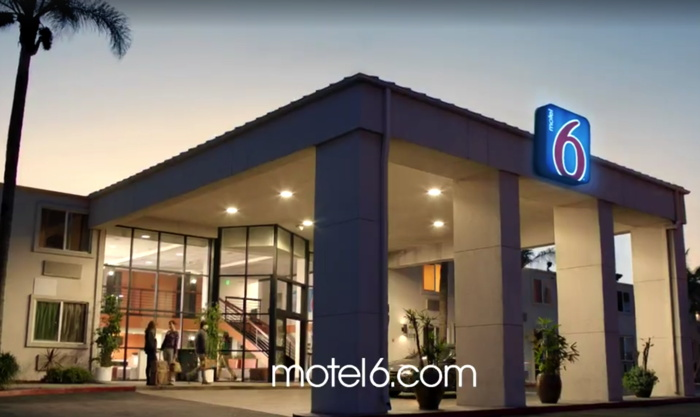 Screenshot from Motel 6 commercial