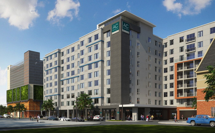 Rendering of the AC Hotel Gainesville Hotel