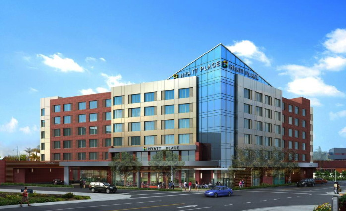 Rendering of the Hyatt Place Emeryville/San Francisco Hotel