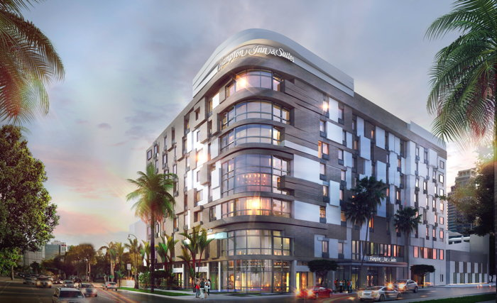 Rendering of the Hampton Inn & Suites Miami Midtown Hotel