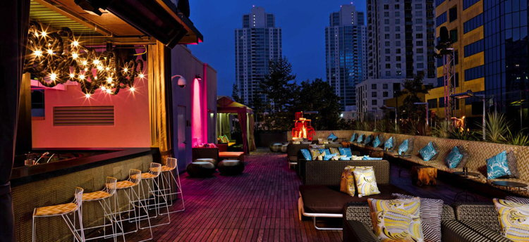 Rooftop bar at the Renaissance San Diego Hotel