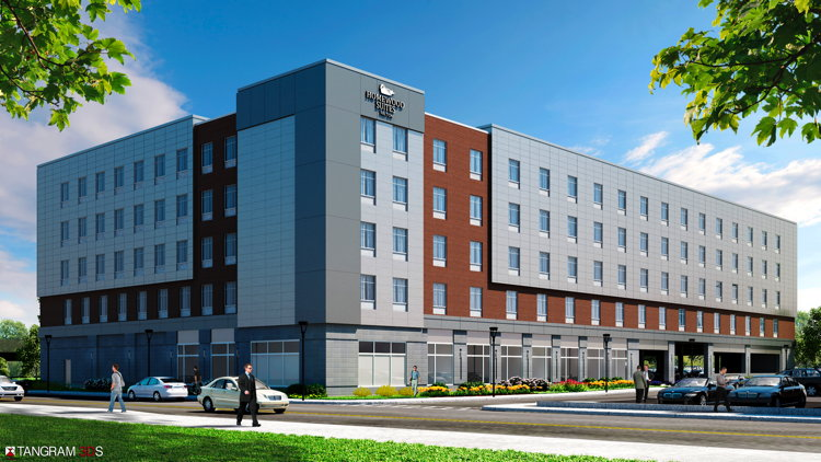 Rendering of the of the Homewood Suites by Hilton Boston Logan Airport Chelsea