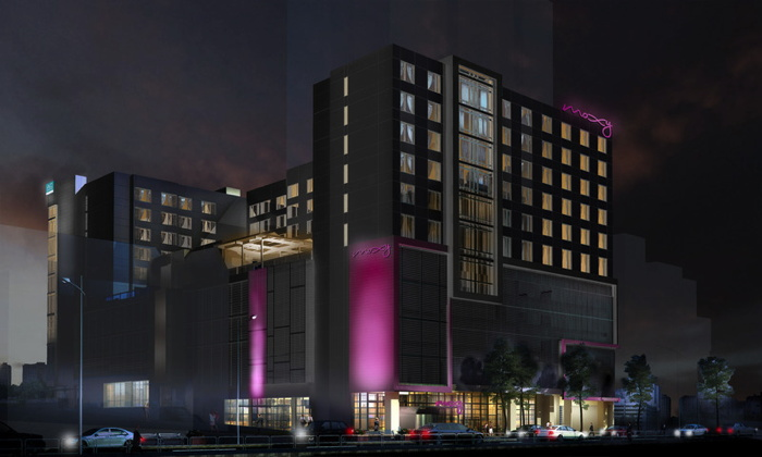Rendering of the Dual-Brand AC Hotels By Marriott and Moxy Hotel Breaks in Atlanta