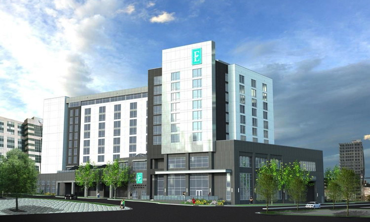 Rendering of the Embassy Suites by Hilton Charlotte Uptown Hotel