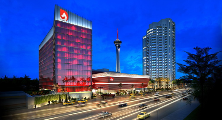 The Lucky Dragon Hotel & Casino - Exterior at night