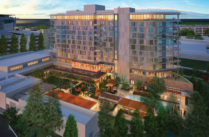 Rendering of the Hotel Nia in Silicon Valley