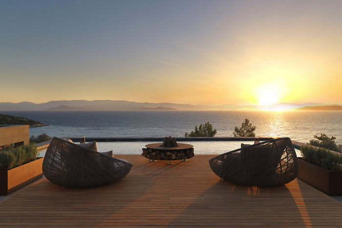 The Arrival Deck at the Mandarin Oriental Bodrum Hotel