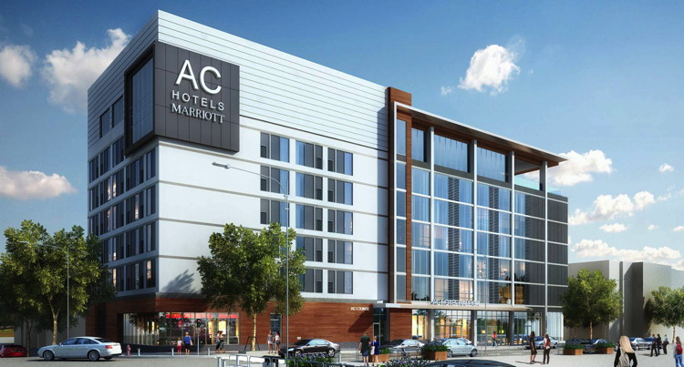 Rendering of the AC Raleigh North Hills Hotel