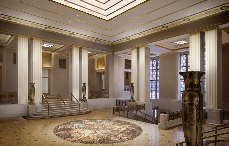 Rendering of the Waldorf Astoria New York Restoration