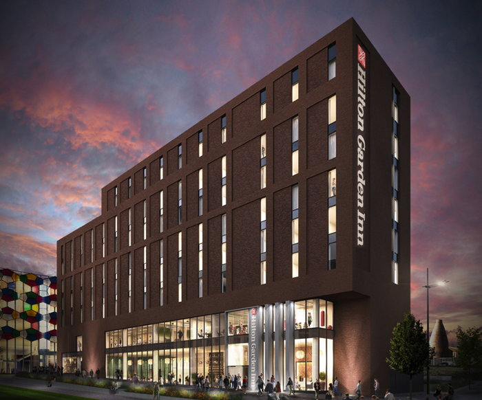 Rendering of the Hilton Garden Inn Stoke-on-Trent