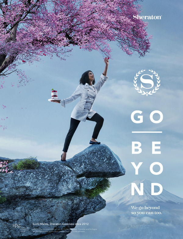 Image from new Sheraton Go Beyond Campaign